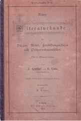 Kleine Literaturkunde für Bürger-, Mittel-, Fortbildungsschulen und: Hentschel, A., K.