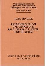Rahmenerzählung und Verwandtes bei G. Keller, C.: Bracher, Hans, Theodor