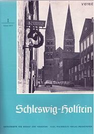 Schleswig-Holstein. Hefte 1 - 12/1975. Monatshefte für Heimat und Volkstum.: ...