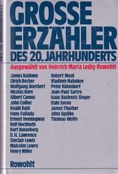 Große Erzähler des 20. Jahrhunderts.: Ledig-Rowohlt (Hg.), Heinrich