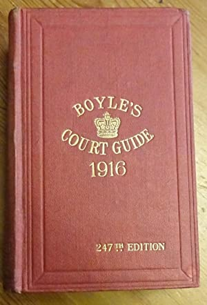 Boyle's fashionable Court & Country guide, and Town visiting directory, corrected for January, 19...