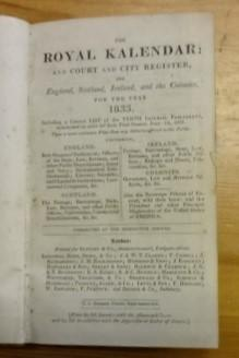 The royal Kalendar: and Court and City Register, for England, Scotland, Ireland, and the Colonies...