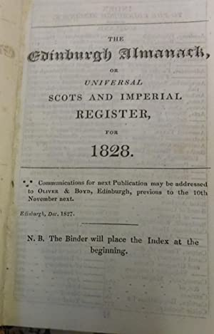 The Edinburgh almanack, or, Universal Scots and Imperial register, for 1828.