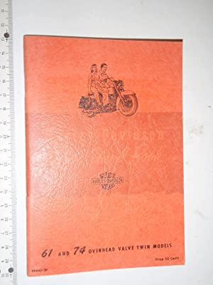 Rider's Hand Book: 61 and 74 Overhead: Harley-Davidson