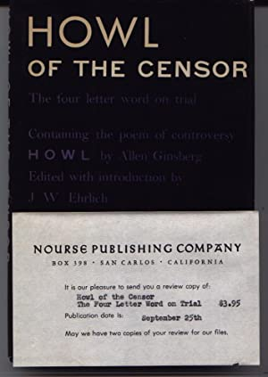 Howl Of The Censor: Ehrlich, J. W.