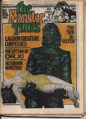 Monster Times - Volume 1 One Number Five 5 - March 29, 1972