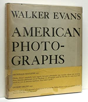 American Photographs: EVANS, Walker (photographs);