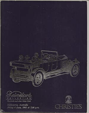 Collectors' Motorcars and Memorabilia. The Property of: Christie's