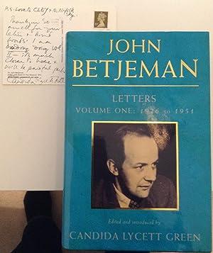 John Betjeman Letters Volume One: 1926 to: Lycett Green, Candida