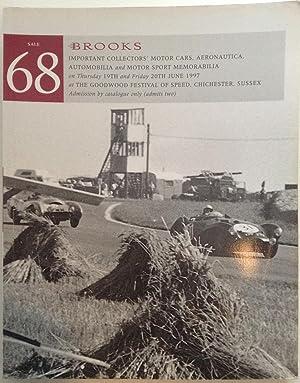 Important Collectors' Motor Cars, Aeronautica, Automobilia and: Brooks
