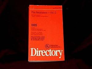 Fire Resistance Directory . 1995 : Volume: Underwriters LAboratories