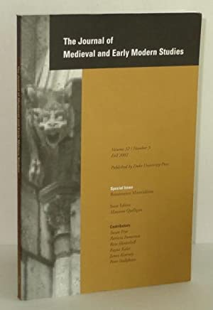Journal of Medieval and Early Modern Studies,: Quilligan, Maureen (Issue