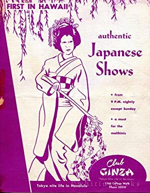 Club Ginza Brochure Circa 1957: Authentic Japanese Shows, Tokyo Nite Life in Honolulu