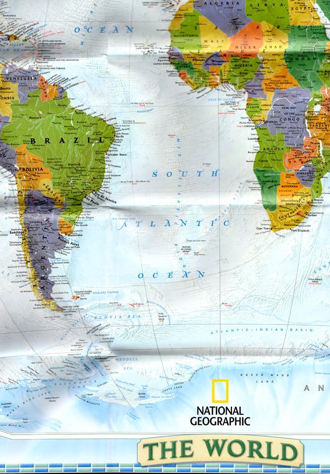 Washington Map Society.National Geographic Map The World 2004 By National Geographic