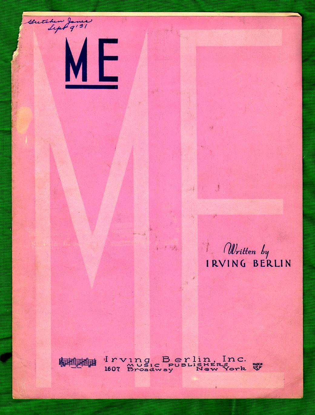 Me / 1931 Original Vintage Sheet Music (