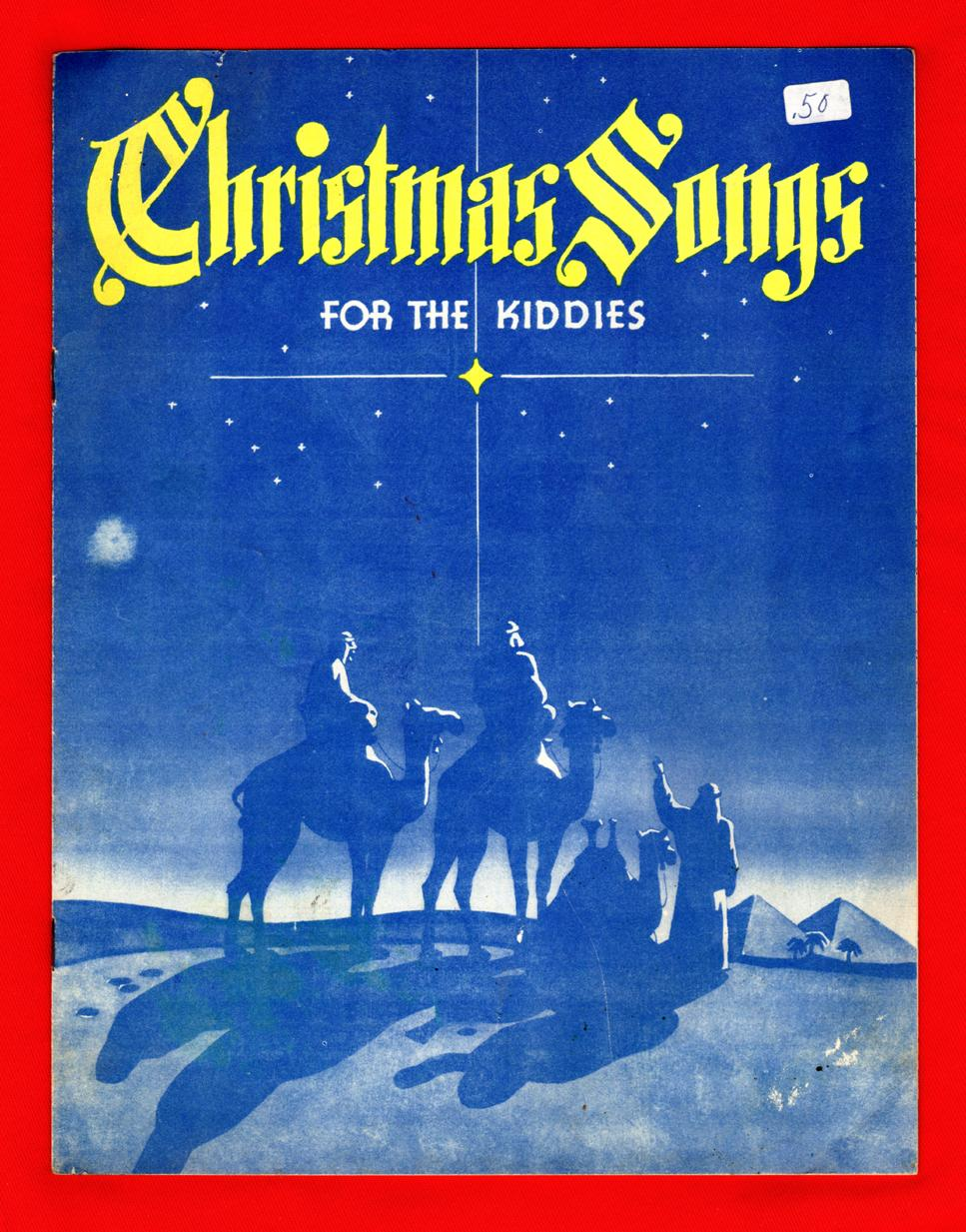 Christmas Songs For the Kiddies / 1950's Vintage Sheet Music and ...