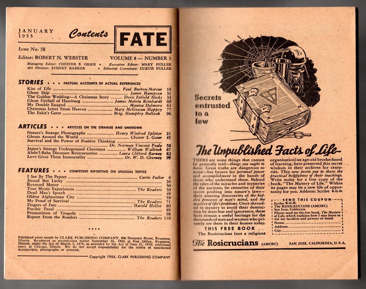 Fate Magazine - True Stories of the Strange