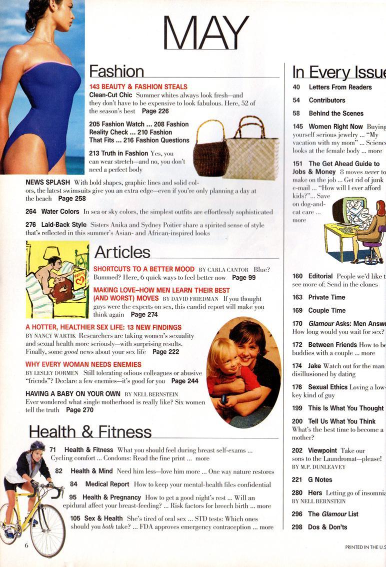 Glamour Magazine - May, 1997  Bridget Hall