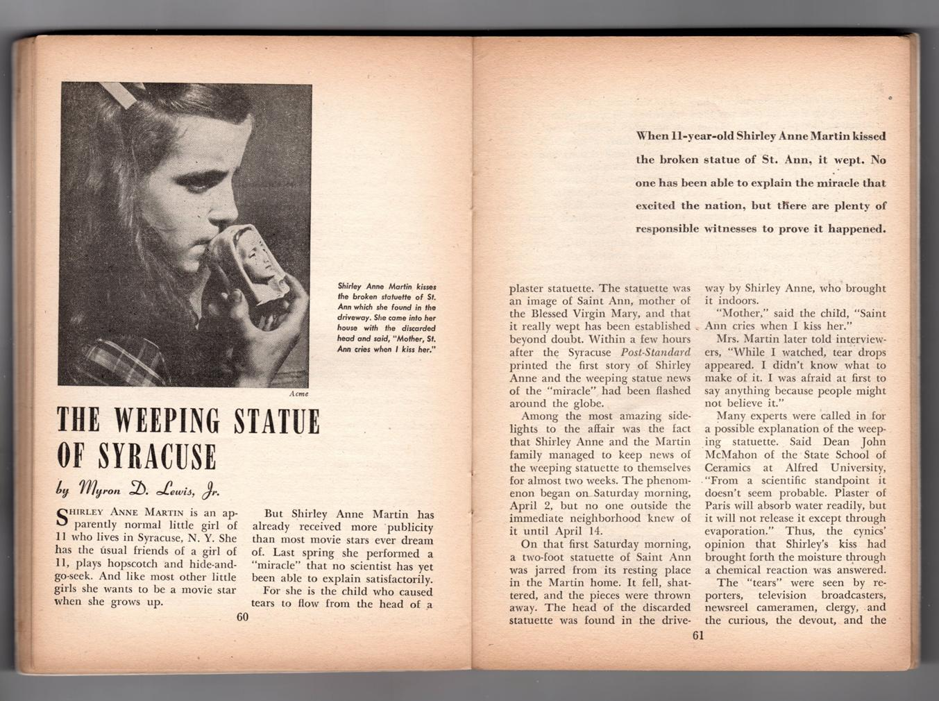 Fate Magazine - True Stories Of The Strange And The Unknown November, 1949 Isis -1253