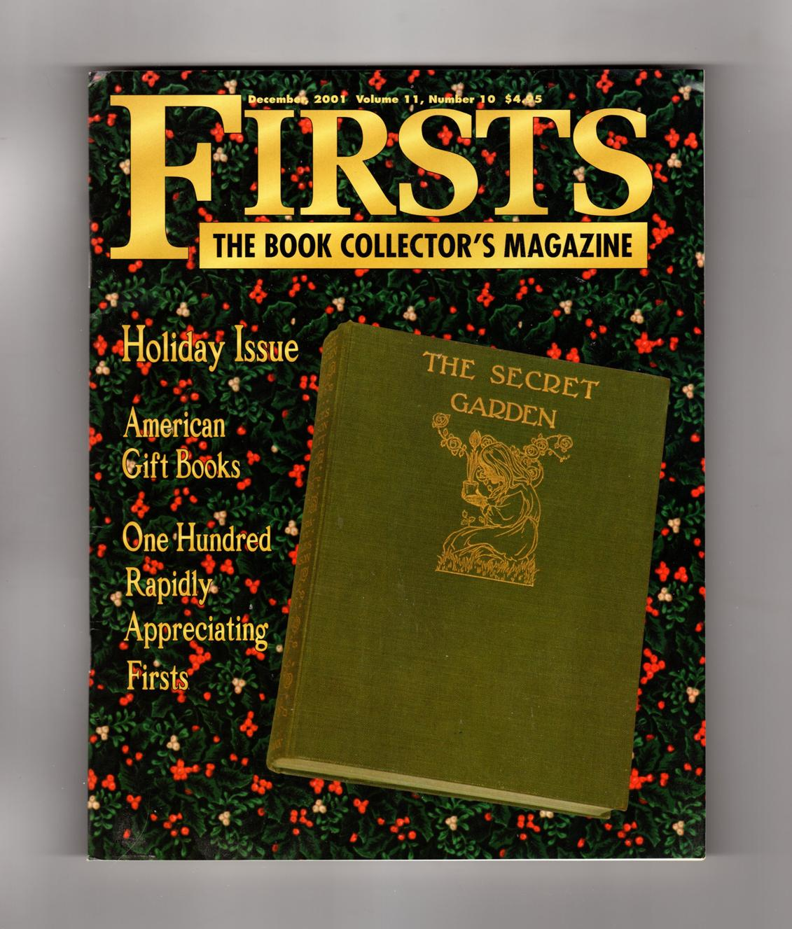 Firsts - The Book Collectors Magazine. December, 2001. The Secret ...