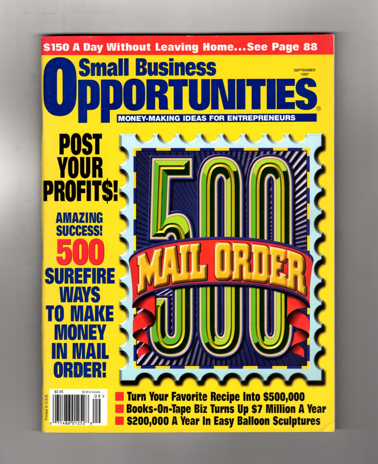 Business Book Cover History : Small business opportunities magazine september