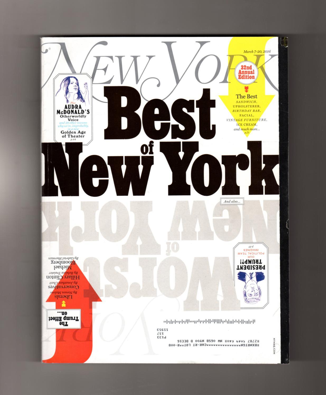 New York Magazine - March 7 - 20, 2016  32nd