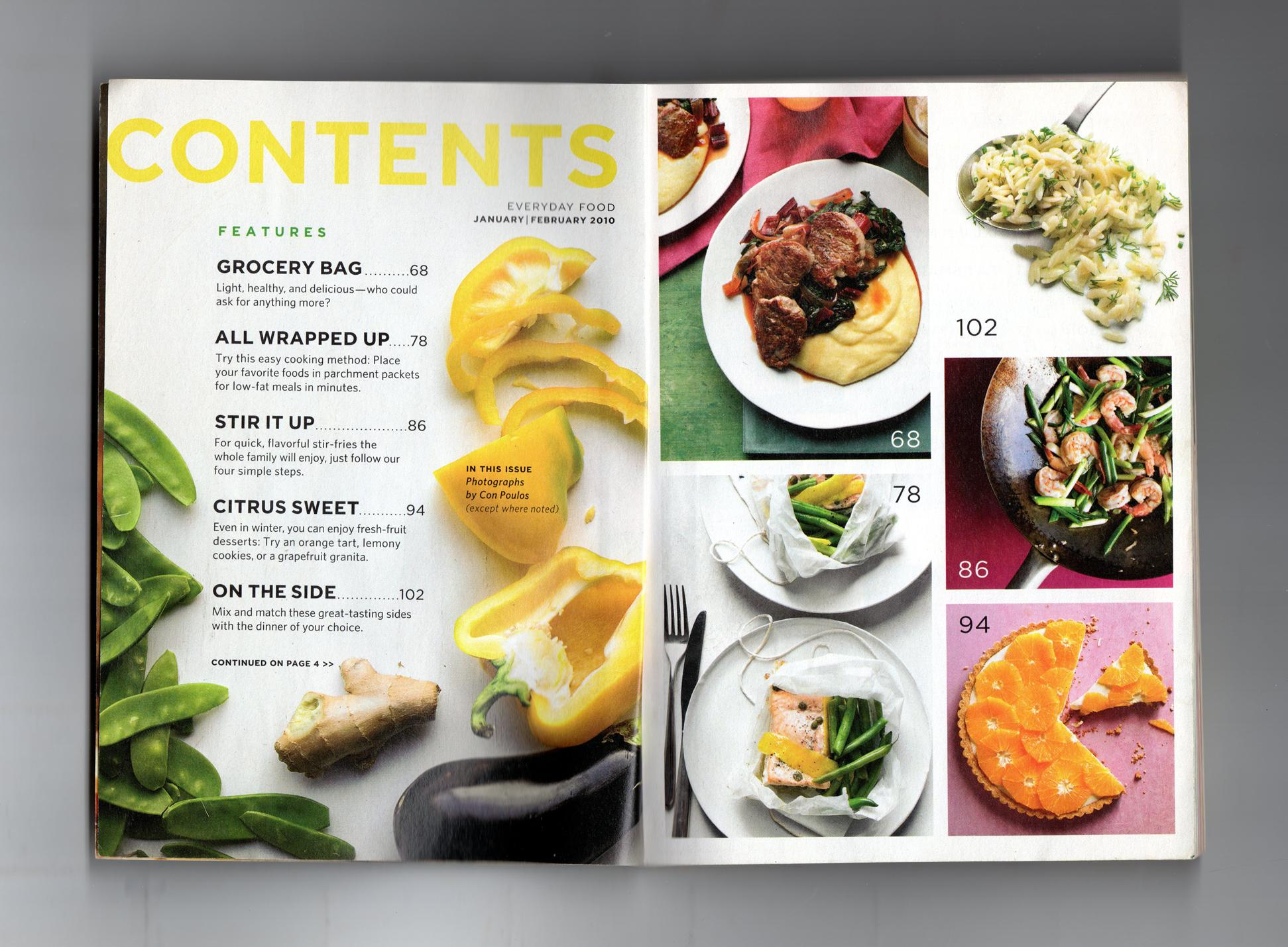 everyday food january february 2010 the light issue great food