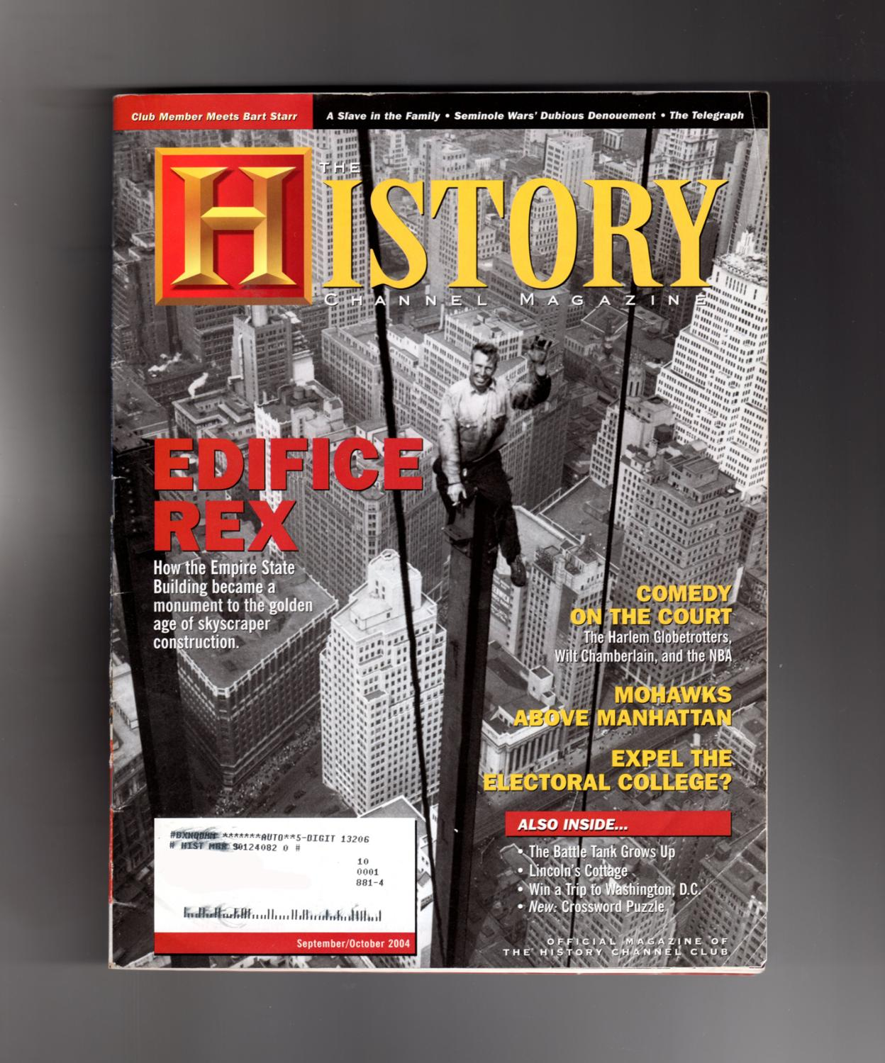 History Channel Magazine - September/October, 2004. Empire State ...