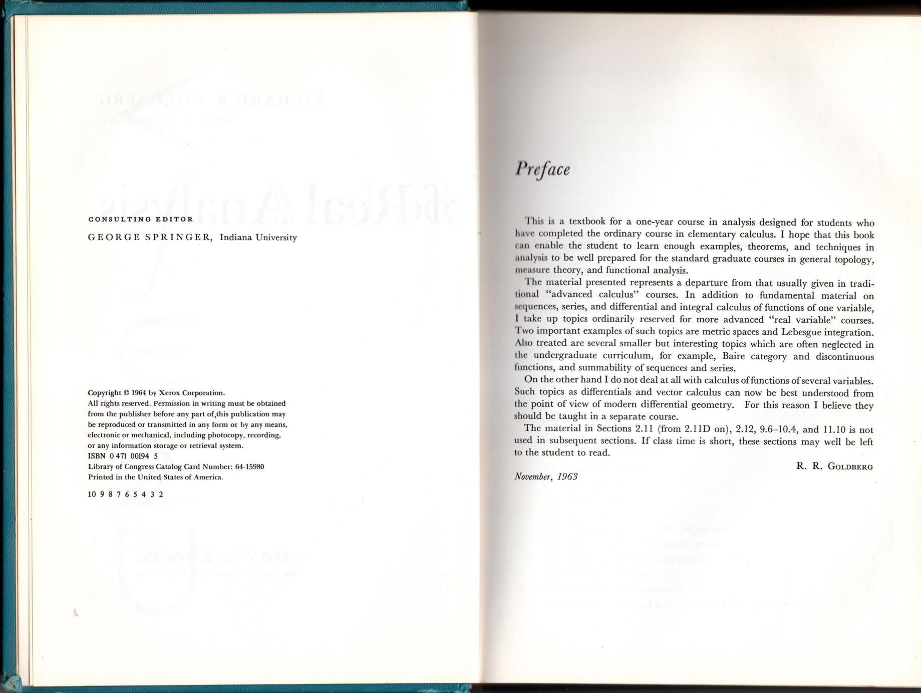 Methods of Real Analysis  ISBN 0471001945,