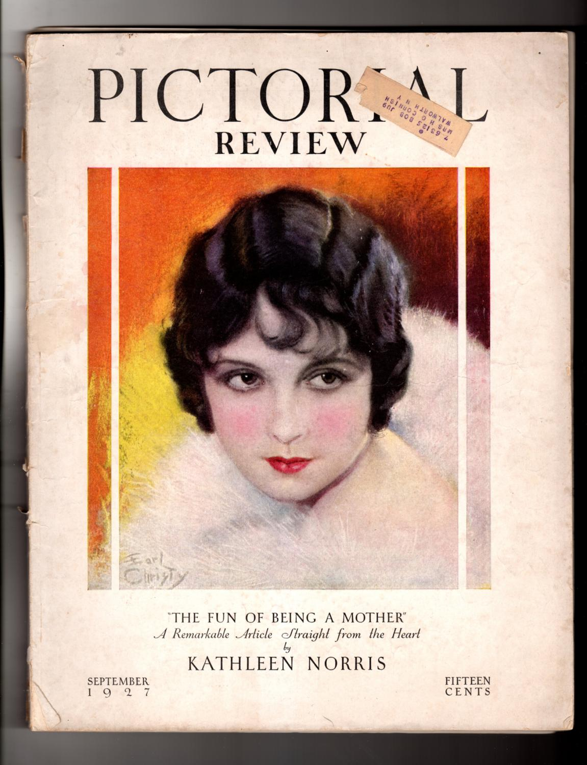 pictorial review september 1927 art deco flapper vintage romance fiction vintage paper dolls charles ransom chickering arthur dove joseph c lincoln clarence kelland bessie beatty
