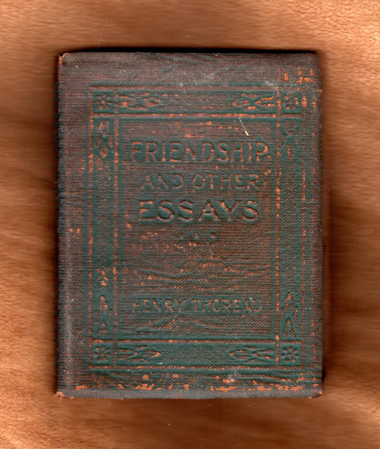 henry thoreau friendship and other essays little leather library  henry thoreau friendship and other essays little leather library variant green and copper