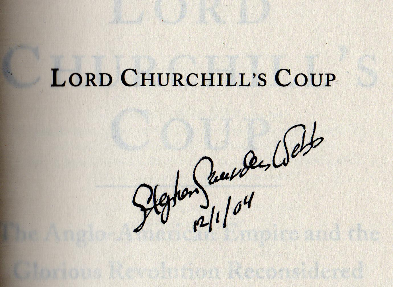 lord churchill s coup webb stephen s