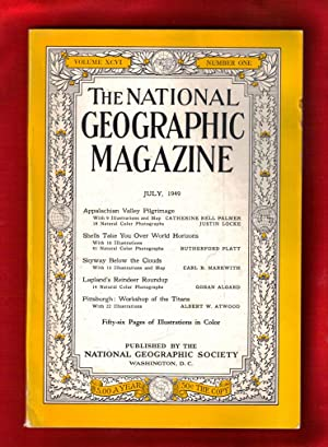 The National Geographic Magazine / July,1949. Appalachian Valley, Seashells, Skyway Below the ...