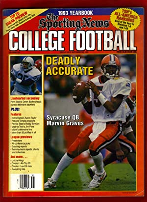 The Sporting News College Football 1993 Yearbook / Marvin Graves (Syracuse) cover: editor) ...