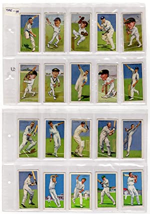 Set of 41 Vintage Player's Cigarettes Caricature Trading Cards, Cricket, circa 1926