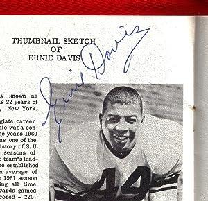 Sports Banquet Program Signed by First African-American Heisman Trophy Winner Ernie Davis, as well ...