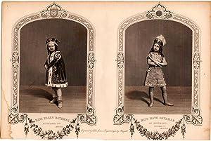 """1860 Shakespearean Steel Engraving, """"Miss Ellen Bateman as Richard 3rd."""" and """"Miss ..."""