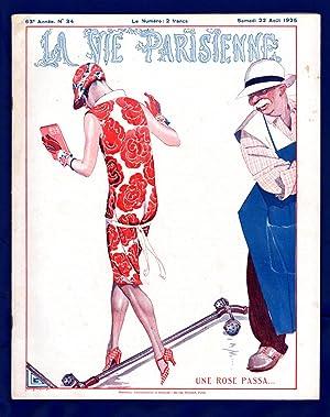 La Vie Parisienne - Samedi 22 Aout 1925. Art Deco/Nouveau. Illustrations by Cheri Herouard, ...