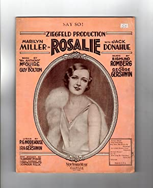 Say So ! / vintage 1928 Sheet Music from the Ziegfeld Production