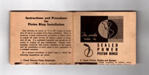 Instructions and Procedure for Sealed Power Piston Ring Installation: Staff, Sealed Power ...
