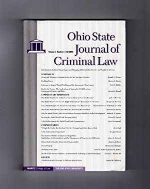 Ohio State Journal of Criminal Law -: Faculty Managing Editors: