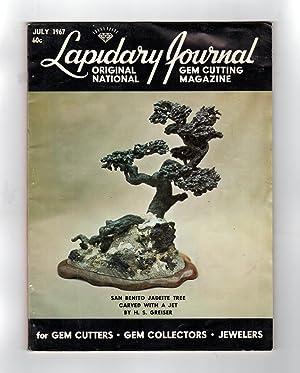 Lapidary Journal -July, 1967. Carving Materials of: Leiper, Hugh (Editor