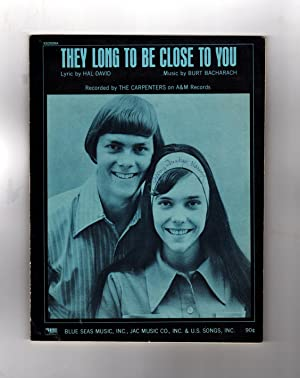 Vintage 1970 Sheet Music: (They Long To Be) Close To You / Performed by The Carpenters. Pop/rock ...