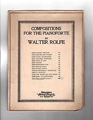 Fire Dance. Vintage Walter Rolfe Sheet Music, 1919, Pianoforte. Theodore Presser