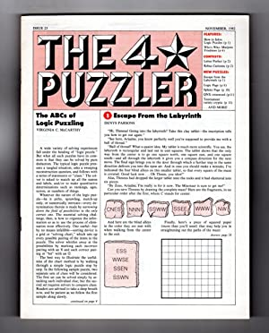 The Four-Star Puzzler - November, 1982: Issue: Emily Cox &