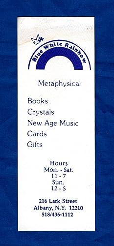 Blue White Rainbow Metaphysical Shop Bookmark / New Age Ephemera circa 1980s: uncredited