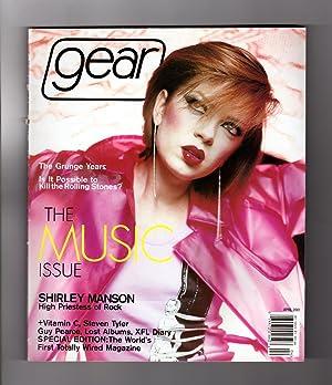 Gear Magazine - April, 2001. Shirley Manson cover. Rolling Stones, Vitamin C, Steven Tyler, Guy ...