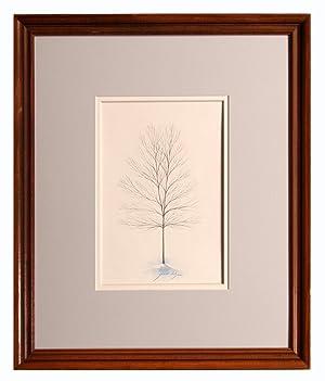 Snow Tree. Original Watercolor Painting by Grant Dolge: Grant Dolge