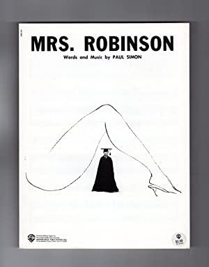 Mrs. Robinson Sheet Music, 1968 - White Variant. Vintage Pop Sheet Music, Warner Brothers. Paul S...
