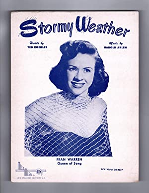 "Stormy Weather"", circa 1950 Vintage Sheet Music (1933 Copyright). Fran Warren Cover. Ted ..."